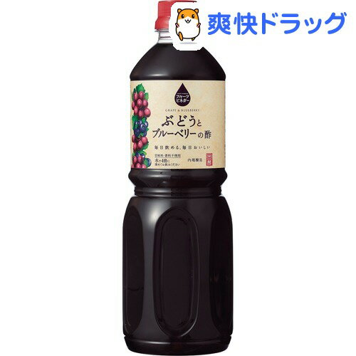 内堀醸造 フルーツビネガー ぶどうとブルーベリーの酢(1L)【内堀醸造】