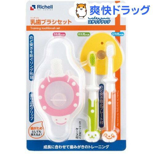 リッチェル 乳歯ブラシセットR 3カ月からのステップアップ(1セット)
