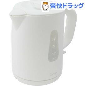 ドリテック 電気ケトル ルイボス 1.0L ホワイト PO-354WT(1台)【ドリテック(dretec)】