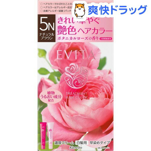 エビータ トリートメントヘアカラー5N ナチュラルブラウン(医薬部外品)(45g+45g)【EVITA(エビータ)】