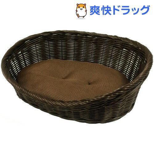 ペットプロ 手編みカラーベッド Sサイズ ブラウン(1コ入)【ペットプロ(PetPro)】