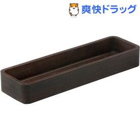 スワンソン商事 木製カトラリーケース ブラウン TD-041B(1個)