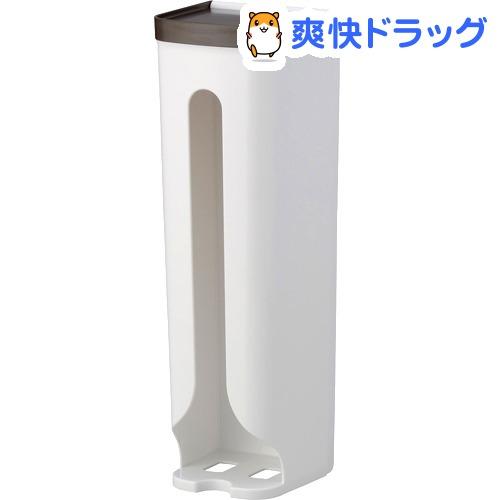 レジ袋ストッカー ブラウン 吸盤用補助シール付き 0097(1コ入)