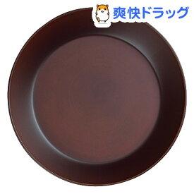 中皿 SEE 丸 プレート L ダークブラウン Φ22.8*3cm(1枚入)