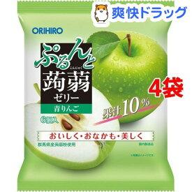 ぷるんと蒟蒻ゼリー パウチ 青りんご(20g*6個入*4袋セット)【ぷるんと蒟蒻ゼリー】