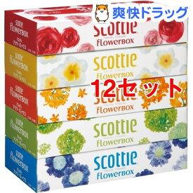 スコッティ ティシュー フラワーボックス(320枚(160組)*5コ入*12セット)【スコッティ(SCOTTIE)】