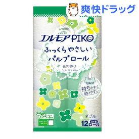 エルモア ピコ トイレットロール 花の香り ダブル 25m(12ロール)【エルモア】