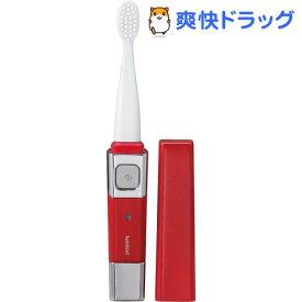 ツインバード 音波振動式USB充電歯ブラシ ACアダプター付 レッド BD-2757R(1コ入)【ツインバード(TWINBIRD)】