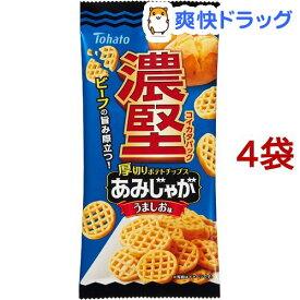 東ハト 濃堅パック あみじゃが うましお味(45g*4袋セット)