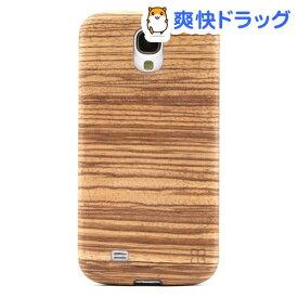 マン&ウッド GALAXY S4 ウッドケース ゼブラーノ ブラック I2187S4(1コ入)【マン&ウッド(Man&Wood)】
