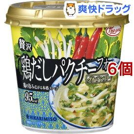 ひかり味噌 Pho you 贅沢鶏だしパクチーフォーカップ(6個セット)