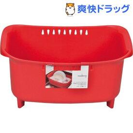 モデルノ 洗い桶 レッド HB-1974(1コ入)【パール金属】