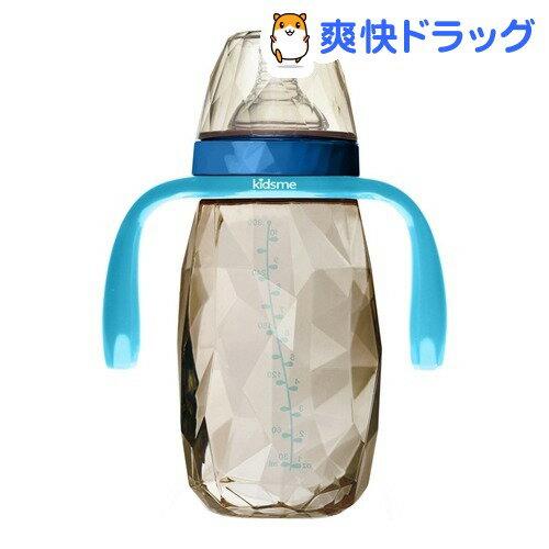 キッズミー PPSU製ダイヤモンドボトル 300mL ハンドル付 6ヶ月頃〜 アクアマリン(1コ入)【kidsme】
