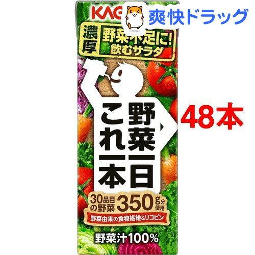 カゴメ 野菜一日これ一本(200mL*48本入)【野菜一日これ一本】【送料無料】