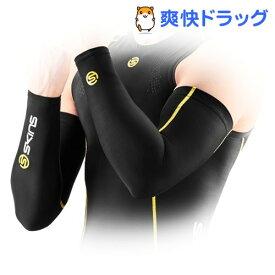 スキンズ A200 ESSENTIALS メンズスリーブ ブラック*イエロー XSサイズ J59183096D(1枚入)【スキンズ(SKINS)】