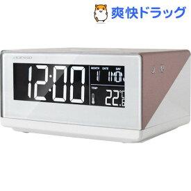 ADESSO(アデッソ) ワイヤレススマホ充電時計 ローズゴールド QA-02RG(1個)【ADESSO(アデッソ)】
