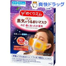 めぐりズム 蒸気でホットうるおいマスク ラベンダーミントの香り(3枚入)【めぐりズム】