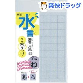 くれ竹 水書練習用紙 マス目入り B5(3枚入)【呉竹】