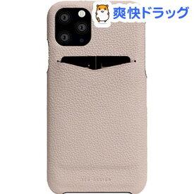 SLG Design iPhone 11 Pro Full Grain Leather Back Case ライトクリーム SD17878i58R(1個)【SLG Design(エスエルジーデザイン)】