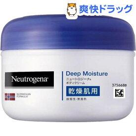 ニュートロジーナ ディープモイスチャー ボディクリーム 乾燥肌用 微香性(200ml)【Neutrogena(ニュートロジーナ)】