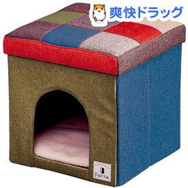 Porta ドッグハウス&スツール モザイク レギュラー(1コ入)【ペティオ(Petio)】