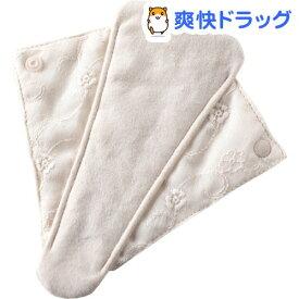 布ナプキン すらら 刺繍ガーゼ きなり(1個)【メイドインアース】