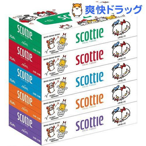 スコッティ ティシュー ディズニー(320枚(160組)*5コ入)【スコッティ(SCOTTIE)】