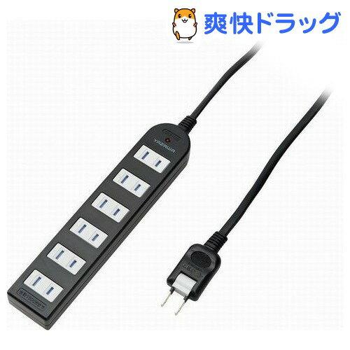 ノイズフィルター付AV機器タップ 6個口 2m ブラック Y02KNS602BK(1コ入)