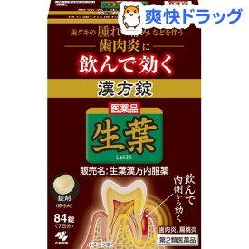 【第2類医薬品】生葉漢方錠(84錠)【生葉】