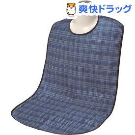 ソフラピレンエプロン チェック 2ウェイタイプ ブルー(1枚入)【ソフラピレン】