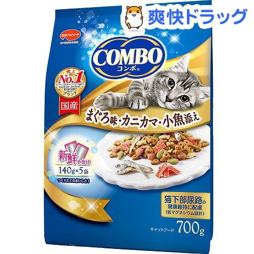 コンボ キャット まぐろ味・カニカマ・小魚添え(140g*5袋入)【コンボ(COMBO)】