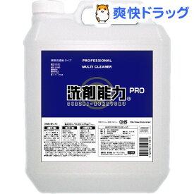 洗剤能力プロ 濃縮タイプ(4L)【洗剤能力】