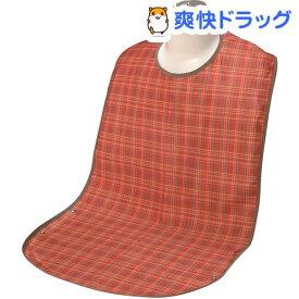 ソフラピレンエプロン チェック 2ウェイタイプ オレンジ(1枚入)【ソフラピレン】