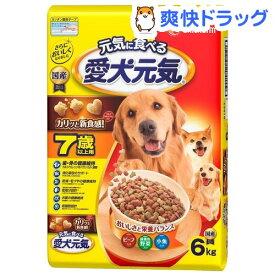 愛犬元気 7歳以上用 ビーフ・緑黄色野菜・小魚入り(6kg)【愛犬元気】[ドッグフード]