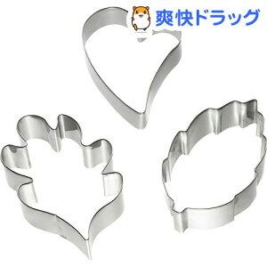 カイハウス セレクト 和菓子の金属抜き型(このは・かしわ・ハートセット) DL7509(1セット)【Kai House SELECT】