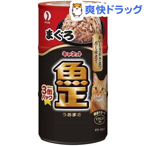 キャネット 魚正 まぐろ(160g*3缶入)【キャネット】