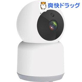 カシムラ スマートホームカメラ ホワイト 首振対応 KJ-182(1台)【カシムラ】