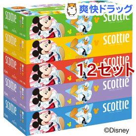 スコッティ ティッシュ ディズニーパッケージ 320枚(160組)(5箱パック*12セット)【スコッティ(SCOTTIE)】