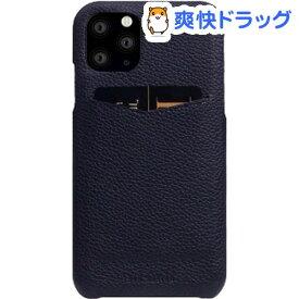 SLG Design iPhone 11 Pro Full Grain Leather Back Case ブラックブルー SD17883i58R(1個)【SLG Design(エスエルジーデザイン)】