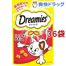 ドリーミーズ シーフード&チキン味(60g*36コセット)【ドリーミーズ】