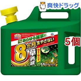 アースガーデン 除草剤 アースカマイラズ 草消滅 ジョウロヘッド(4.5L*5個セット)【アースガーデン】