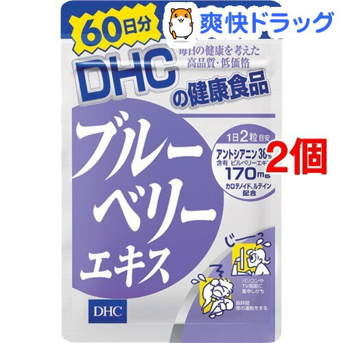 DHC ブルーベリーエキス 60日分(120粒入*2コセット)【DHC】【送料無料】