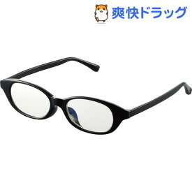 キッズ用ブルーライト対策メガネ 50%カット Mサイズ ブラック G-BUC-W03MBK(1個)【エレコム(ELECOM)】