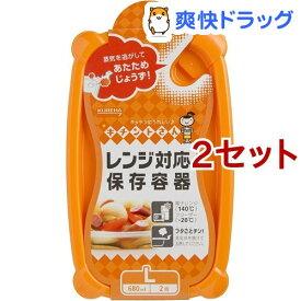 キチントさん レンジ対応保存容器 Lサイズ(2コ入*2コセット)【キチントさん】