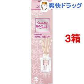 サワデー 香るスティック つめ替用 パルファムスパーリング ピンク(70ml*3コセット)【サワデー 香るスティック パルファム】