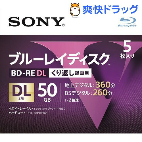 ソニー ブルーレイRE2倍速2層 Vシリーズ 5BNE2VLPS2(5枚入)【送料無料】
