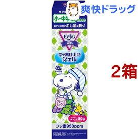 モンダミンジュニア フッ素仕上げジェル グレープミックス味 子供用(80g*2箱セット)【モンダミン】