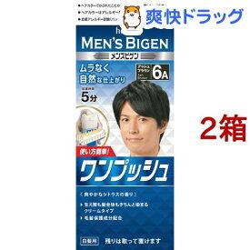 メンズビゲン ワンプッシュ アッシュブラウン 6A(2箱セット)【メンズビゲン】[白髪染め]