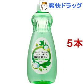 アドグッド 食器用洗剤 グリーン(600mL*5コセット)【アドグッド】