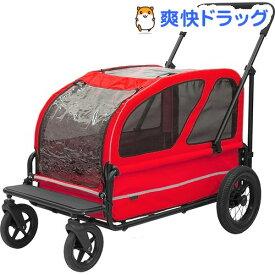 エアバギーフォードッグ AD CARRIAGE SET ベリーレッド(1台)【AIRBUGGY FOR PET】